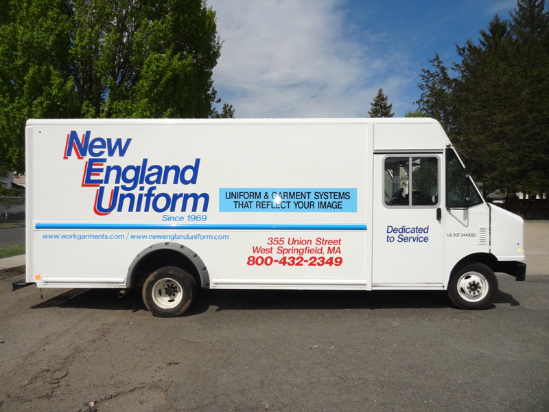 This is a photo of a New England Uniform Truck