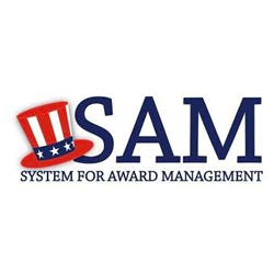 This is a photo of the SAM logo
