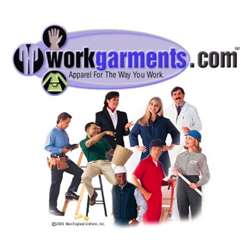 This is a photo of the work garments logo